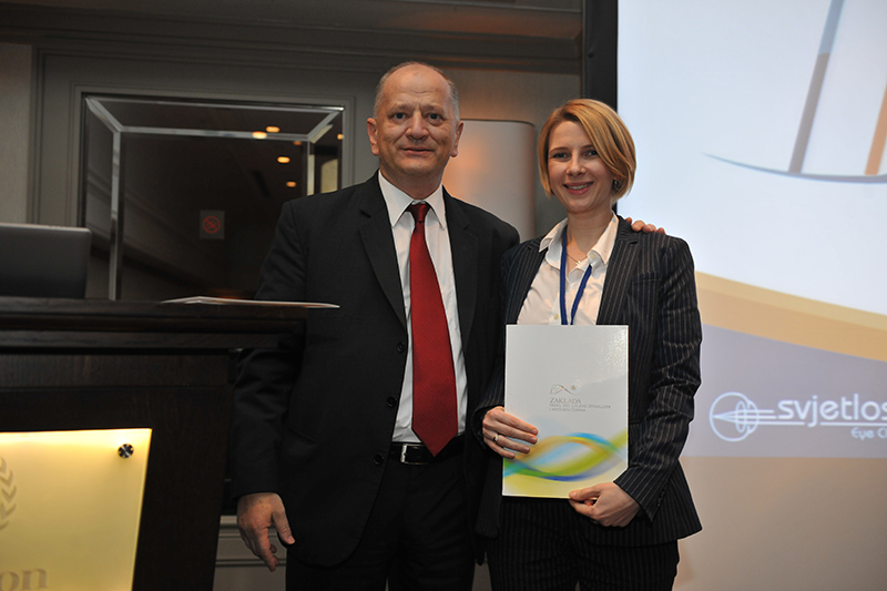 Dr. Sofić-Drino has received an award for the best scientific work of young ophthalmologists